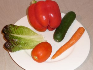 vegies healthy lunch blog